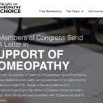25 Members of Congress send FDA Letter in support of Homeopathy